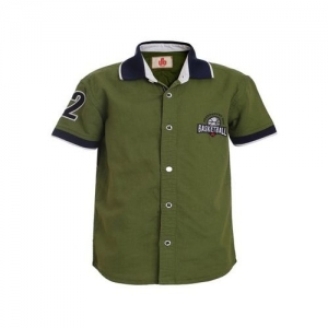 UFO Kids Olive Solid Shirt