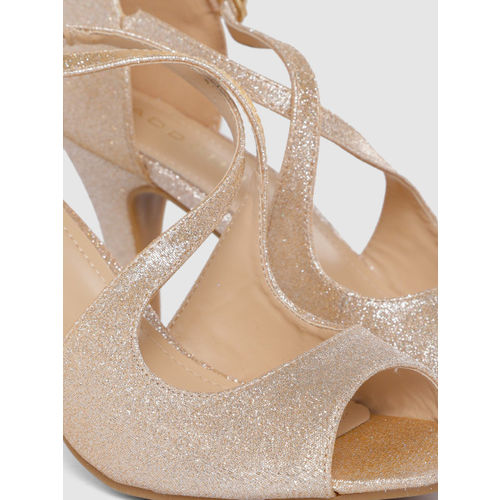 Addons Women Rose Gold Solid Peep Toes