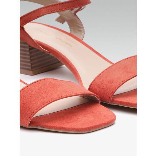 DOROTHY PERKINS Women Rust Orange Solid Heels