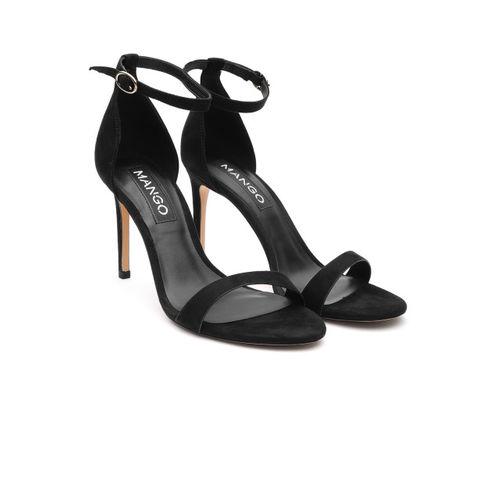 MANGO Women Black Solid Stilettoes