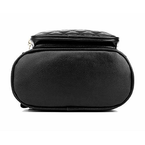 RCOM Black Designer High Quality Backpack for Women, Fashion Shoulder Bag for College Office Bag Girls