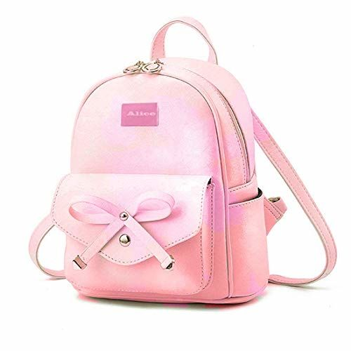 Alice Cute Mini Pink PU Leather Backpack