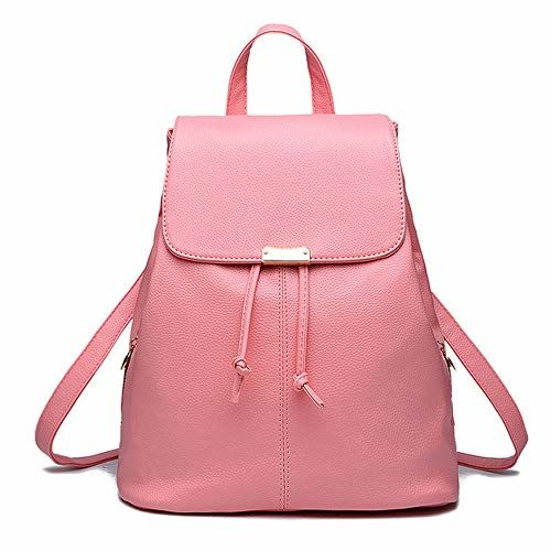 Alice Women's Leather Backpack (Pink)