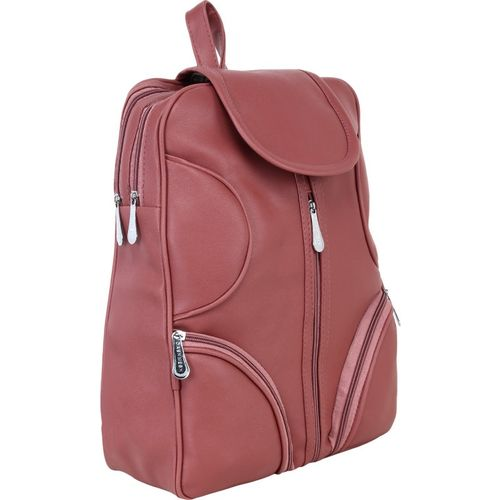 rehan PU Leather Backpack School Bag 10 L Backpack(Pink)