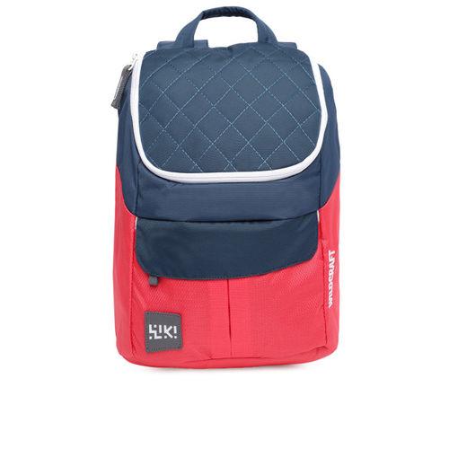 Wildcraft Unisex Navy Blue & Red Colourblocked Backpack