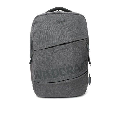 Wildcraft Unisex Charcoal Grey Solid Laptop Backpack