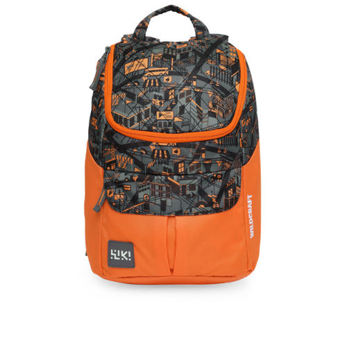 Wildcraft Unisex Orange & Black Trix18 Graphic Backpack