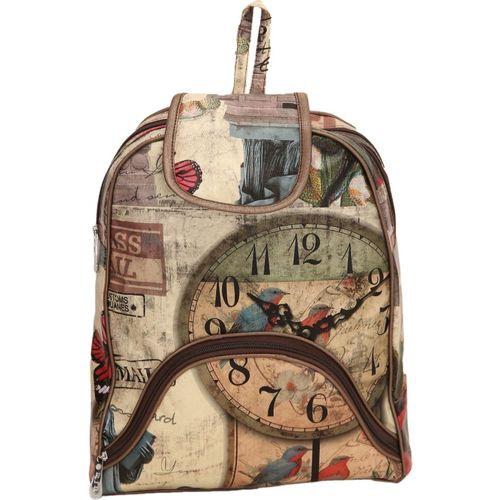 qooqle BROWN COLOR 3D WATCH Waterproof Backpack(Brown, 10 L)