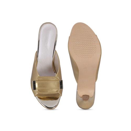 MSC Women Gold-Toned Solid Heels