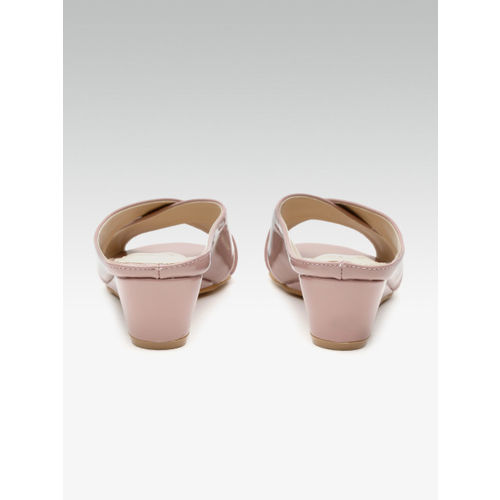 Carlton London Women Pink Solid Wedges