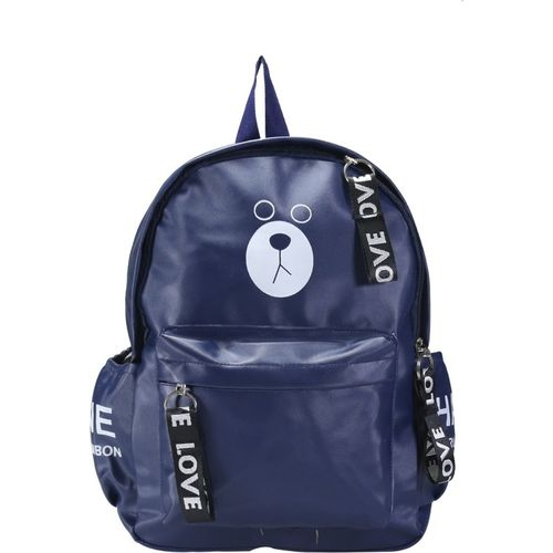 DONICY Women & Girls PU Leather Stylish Backpack 10 L Backpack(Blue)