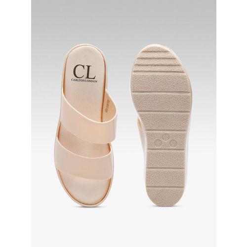 Carlton London Women Beige Solid Flatforms