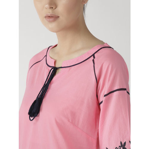 plusS Women Pink Solid Top