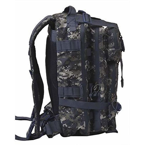 F Gear Military Tactical Polyester 29 Ltrs Marpat Navy Digital Camo Casual Backpack (2853)