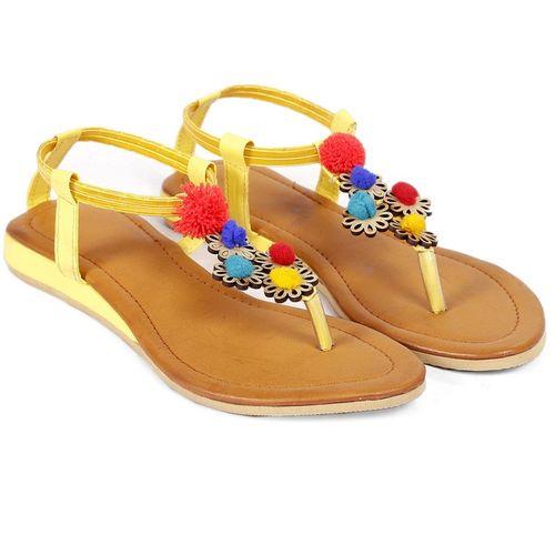 Paduki Women Yellow Flats