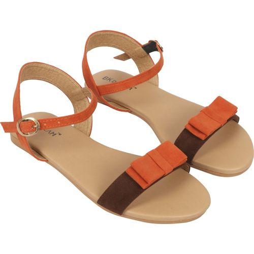 BK DREAM Women Orange, Brown Flats