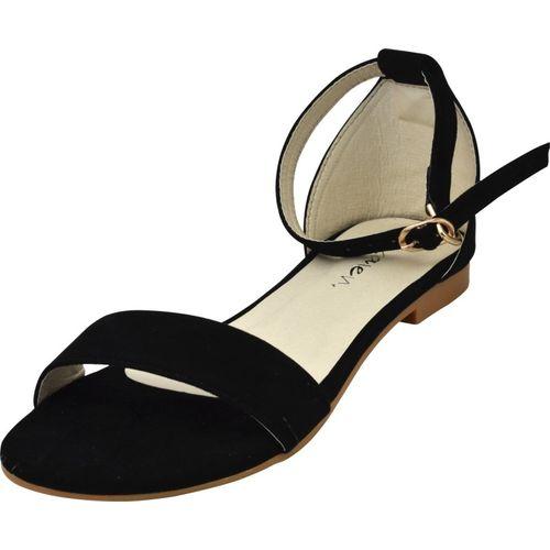 Raien Fashion Women Black Flats