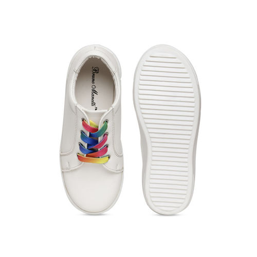 Bruno Manetti Unisex White Mid-Top Sneakers