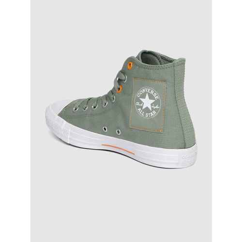 Converse Unisex Olive Green Mid-Top Sneakers