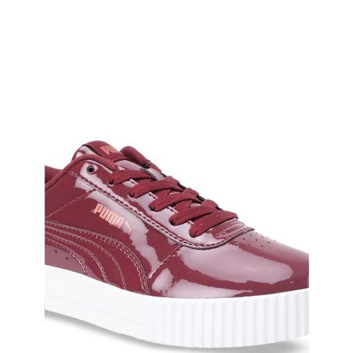 Puma Women Maroon Carina P Cordovan-Cordovan Sneakers