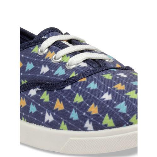 Nell Women Blue Slip-On Sneakers
