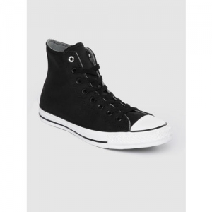 Converse Unisex Black Solid Mid-Top Sneakers
