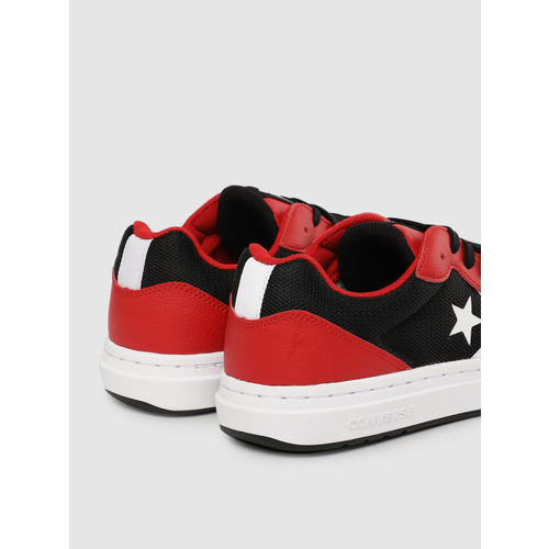 Converse Unisex Black & Red Sneakers