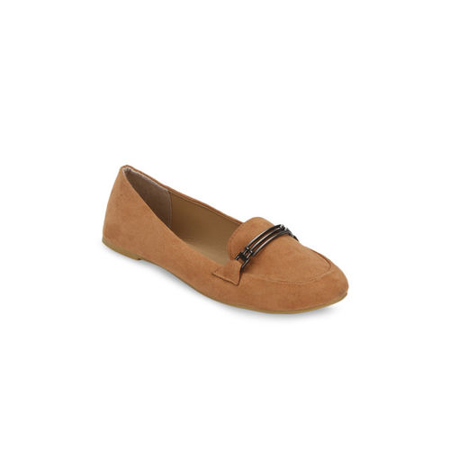 Truffle Collection Women Tan Brown Loafers