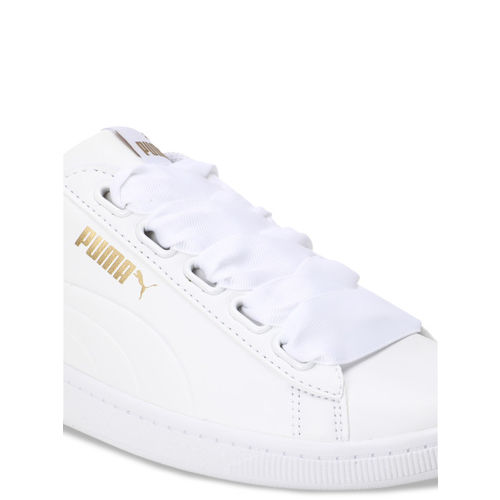 Puma Women White Puma Vikky Ribbon SL Sneakers