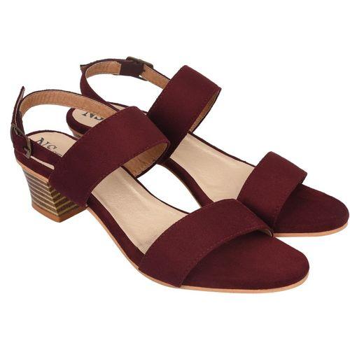 NS STYLE Women Burgundy Heels