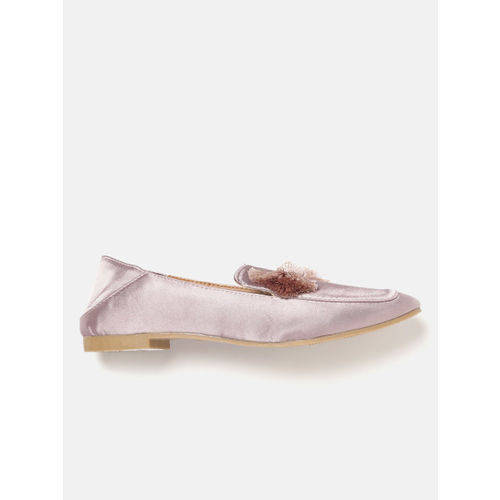 Lavie Women Rose Gold-Toned Slip-Ons with Fringed Detail