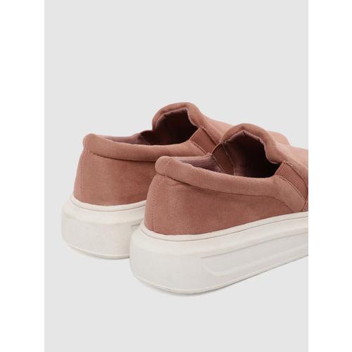 FOREVER 21 Women Pink Slip-On Sneakers