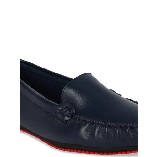 Flat n Heels Women Navy Blue Loafers