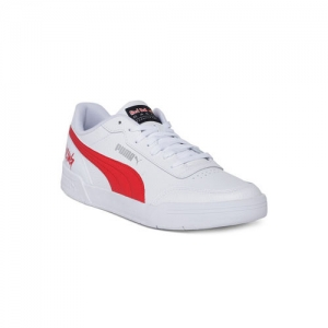 buy puma white synthetic casual shoes with metallic toe