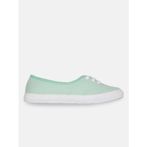 Mast & Harbour Women Mint Green Solid Sneakers