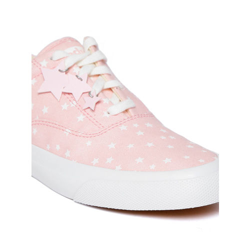 Keds Women Pink & White Printed Sneakers