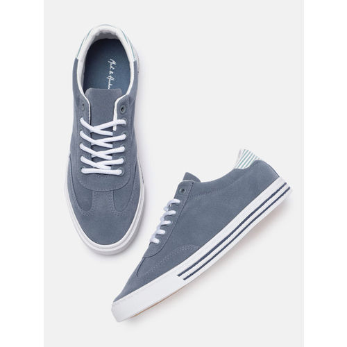 Mast & Harbour Women Blue Solid Sneakers