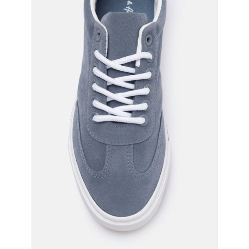 Mast & Harbour Women Blue Solid Sneakers