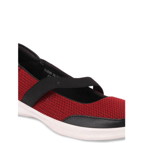 FAUSTO Women Red Slip-On Sneakers