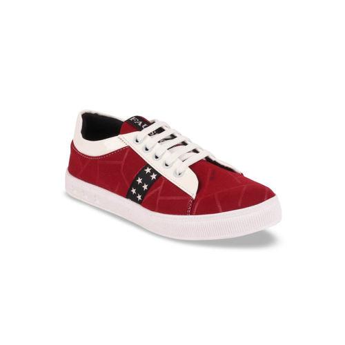 FAUSTO Women Maroon Sneakers