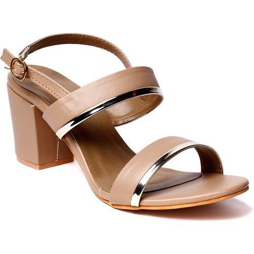 Klaur Melbourne Women Beige, Silver, Brown Heels