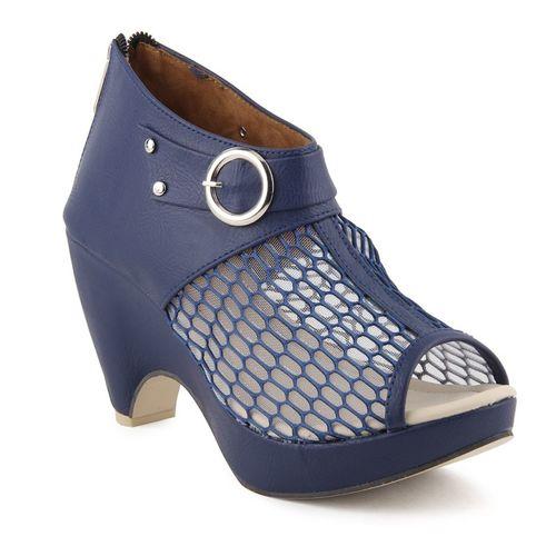 Cute Fashion Women Blue Heels