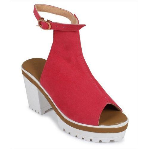 Shoe Cloud Women Red Heels