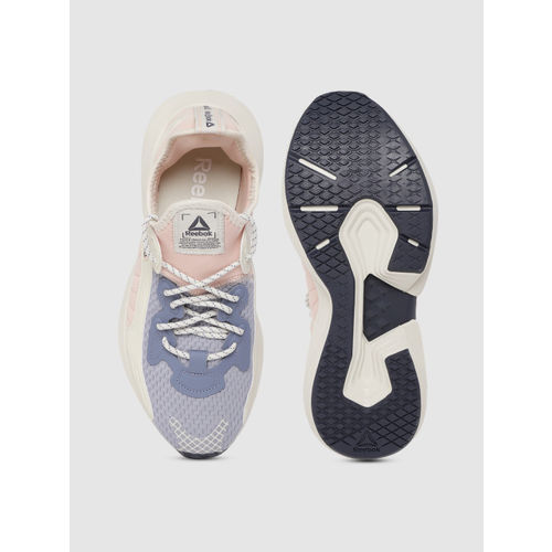 Reebok Women Pink & Blue Sole Fury 00 Colourblocked Running Shoes