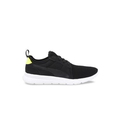 Puma Unisex Black Mesh Running Shoes