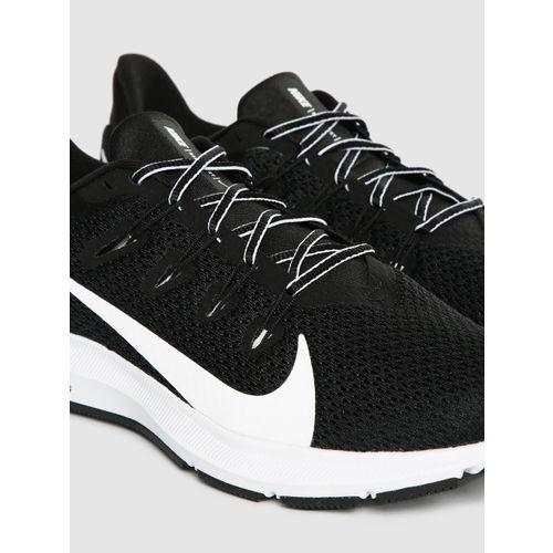 Nike Women Black & White QUEST 2 Running Shoes