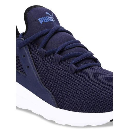 Puma Unisex Navy Blue Mesh Running Shoes