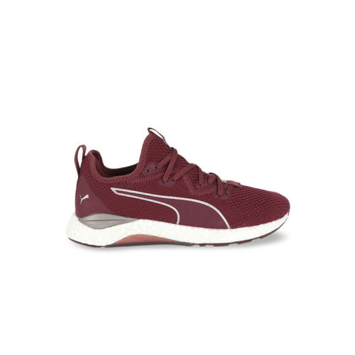 Puma Women Maroon Textile Hybrid Runner Luxe Wns Running Shoes