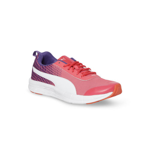 Puma Women Pink Textile Mid-Top Supernal Wns NU 2 IDP Paradise Running Shoes