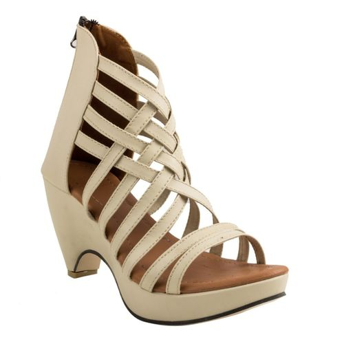 Cute Fashion Women Beige Heels